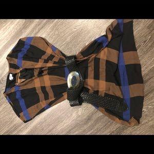 Fall Plaid Trend Midi Tunic Dress Sz XXL